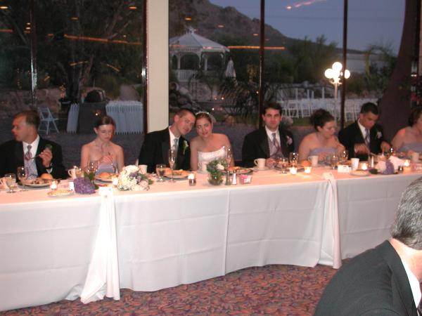 So Here Are Some Shots Of The Head Table And Wedding Party As They Initiated Toasts